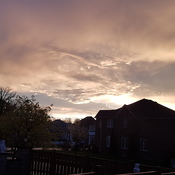 Beautiful sky after storm