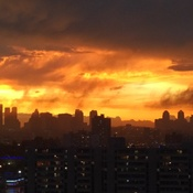 Fiery sunset - after the rain
