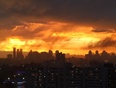 Fiery sunset - after the rain - Mississauga, ON