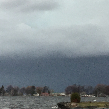 Shelf cloud coming in form our north east