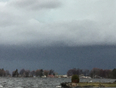 Shelf cloud coming in form our north east  - North Bay, ON, CA