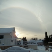 Sunrise Snow Rainbow