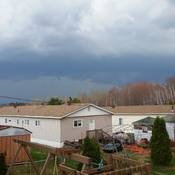 storm cell comming into sudbury ontario. thrs april 27.