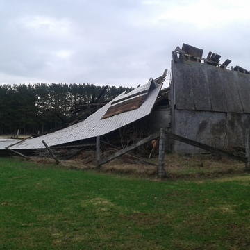 Century-old barn in Hanmer no match against microburst