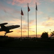 Sunset at London International Airport