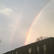 Beautiful double rainbow in Burlington Ontario