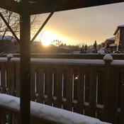 Snowing sunset