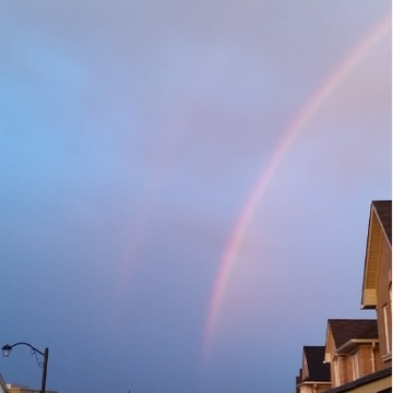Rainbow over Newmarket, Ont