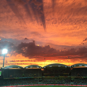 Beautiful sky over Adelaide