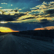 Sunset north on highway 63.