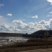 The River And Bridge in Ft Mac