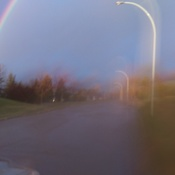Beautiful rainbow in Edmonton