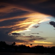 Sunset cloud cover Florida