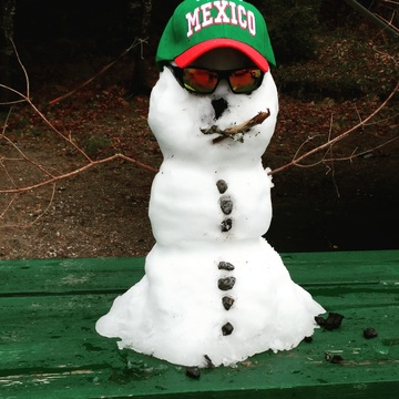 Mexican Snowman Visits