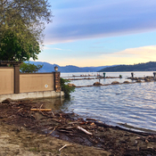 Flooding: Lake access at Cadder Ave, Kelowna BC - evening of May 21st.