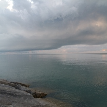 Cool weather over Lake Huron