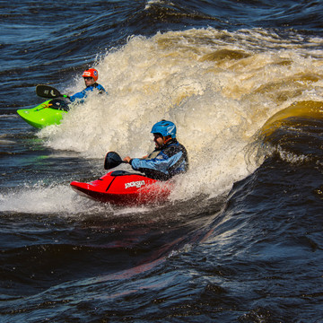 White Water Kayaking Duo in Deschenes Rapids