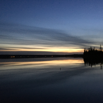 Emma Lake at dusk.