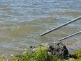The rising water of Lake Okanagan - West Kelowna, BC