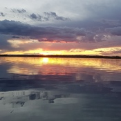 Sunset at South Wabasca Lake