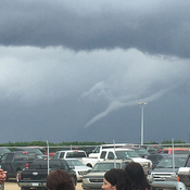Funnel cloud in Lloydminster