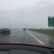 Crazy crazy wind and rain on the Henday