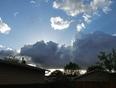 Sun behind a thunder head. - Saskatoon, SK
