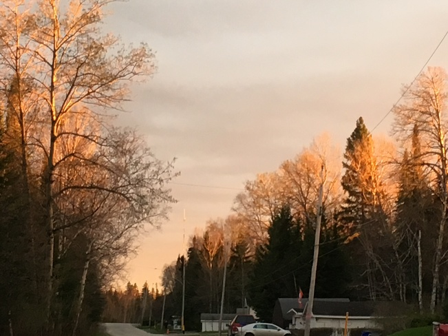 Sunset kisses the earth in Northern Ontario