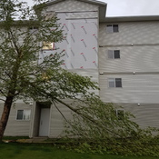 Wind damage sylvan lake alberta