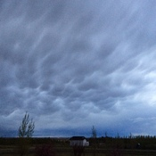 Mammatus storm clouds Saskatoon may 24 @ 9pm