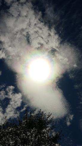 Rainbow ring around the sun