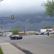 Storm clouds in Saskatoon