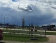 Fist cloud  - Red Deer, AB, CA