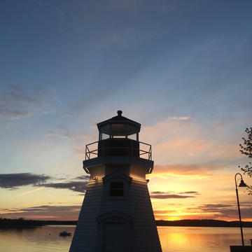 Lighthouse in the sunset.