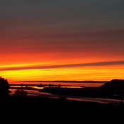 Sunset over Robinsons River NL on the West Coast!