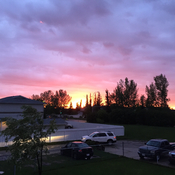 Beautiful Sunset in Red Deer