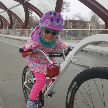 Great daddy daughter time on the Trans Canada trail