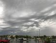 Rain clouds in Omaha  - Boys Town, Nebraska, US