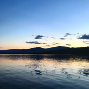 Lee Creek sunset - Shuswap Lake