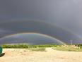 Double rainbow - McLean, SK, CA