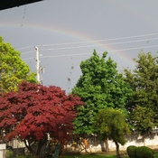 Rainbow during the storm.