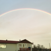 The rainbow caressing us after we buried a loved one (Mme Hélène Claveau