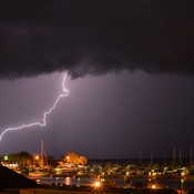 Lightning over the Leaminton Marina