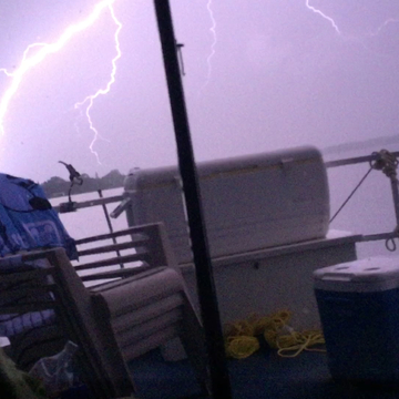 Canal Lake lightening storm