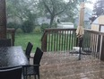 Hail in North West London - Hyde Park, ON, CA