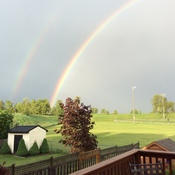 Double Rainbow over Ayr, Ontario 7:45 pm
