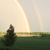 Double rainbow in Woodville, ON