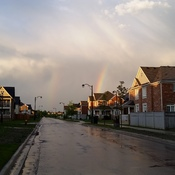 Double Rainbow in Beautiful Bradford, Ontario