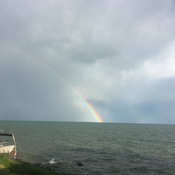 Rainbow on Lake Erie
