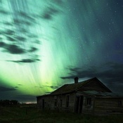 northern lights over moosejaw saskatchewan